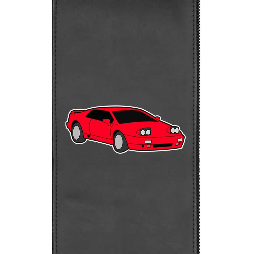Retro Sports Car Gaming Logo Panel