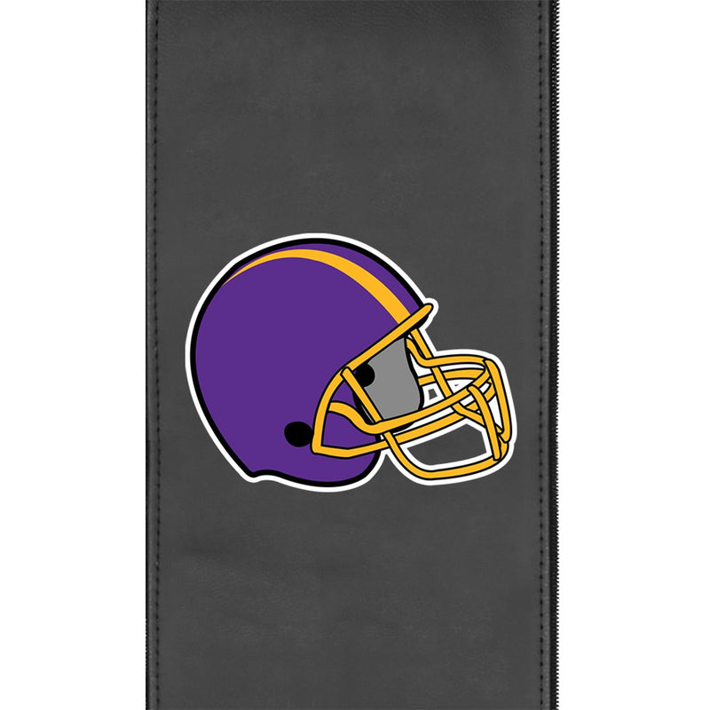 Retro Football Helmet Gaming Logo Panel