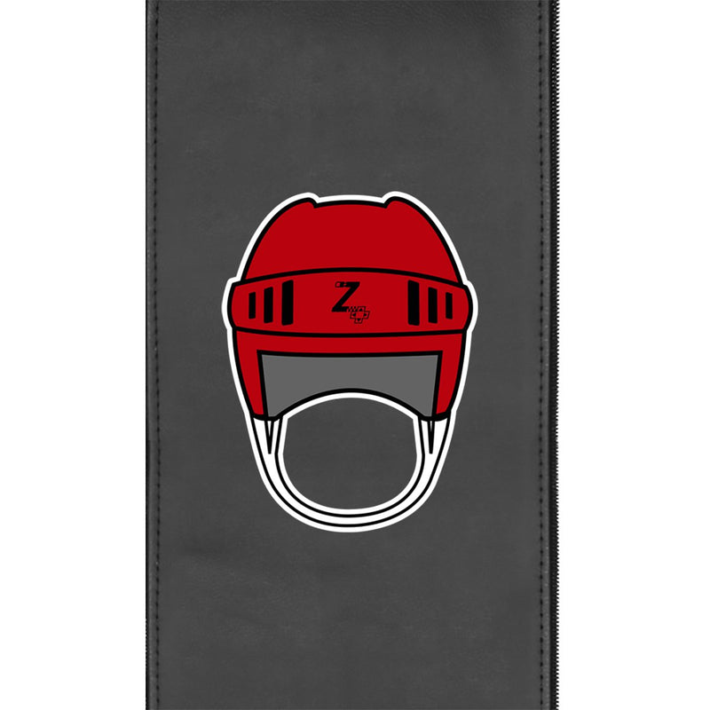 Retro Hockey Helmet Gaming Logo Panel for Xpression Gaming Chair