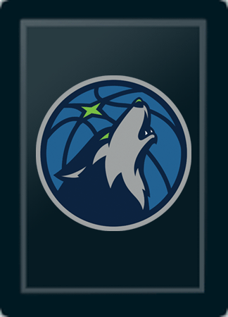Minnesota Timberwolves Secondary Logo Panel For Xpression Gaming Chair Only