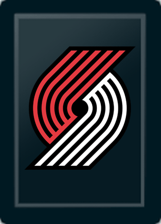 Portland Trailblazers Primary Logo Panel For Xpression Gaming Chair Only
