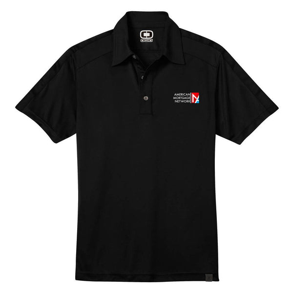 OGIO Men's Black Hybrid Polo