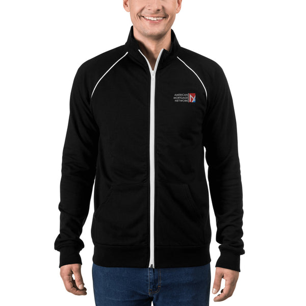AMNET Men's Piped Fleece Jacket
