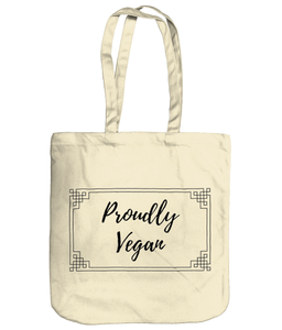 Proudly Vegan Organic Spring Tote Eco-Friendly Recyclable - Proudly Vegan Co.