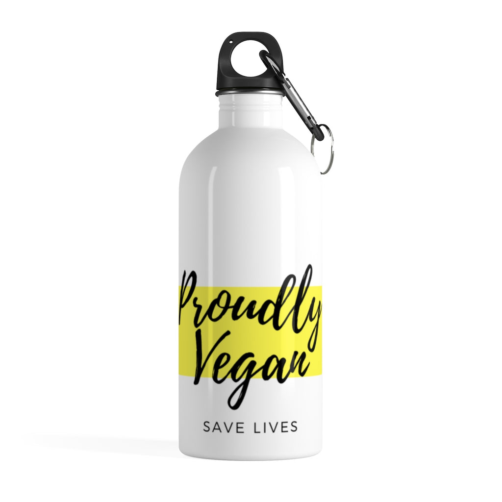 Proudly Vegan Stainless Steel Water Bottle - Proudly Vegan Co.
