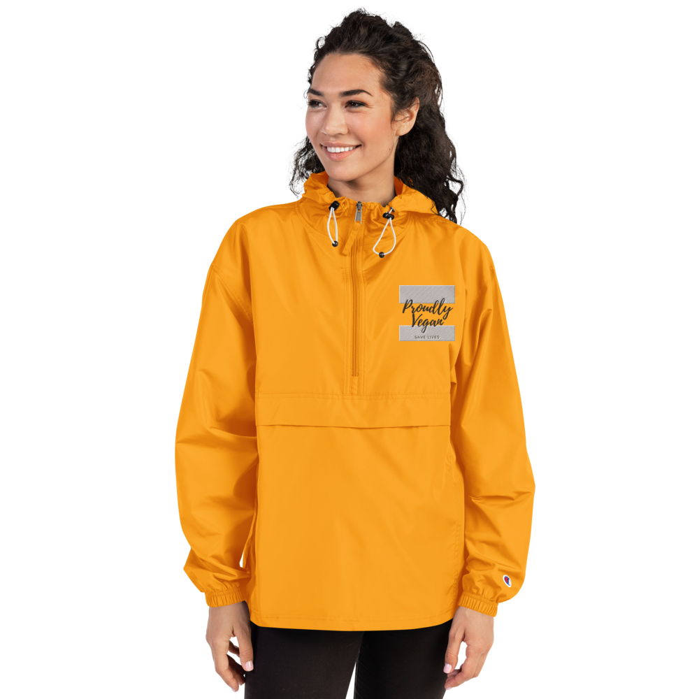 Proudly Vegan Unisex Champion Packable Jacket - Proudly Vegan Co.