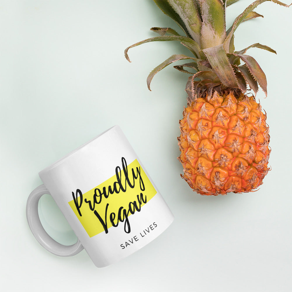 Proudly Vegan Ceramic Mug - Proudly Vegan Co.