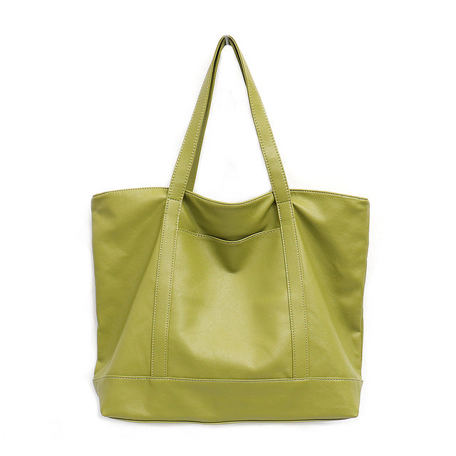 Vegan PU Leather Large Tote Bag For Women - Proudly Vegan Co.