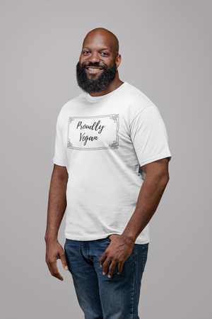 Proudly Vegan Organic Cotton Unisex T-shirt Eco-Friendly Recyclable Fair Trade - Proudly Vegan Co.