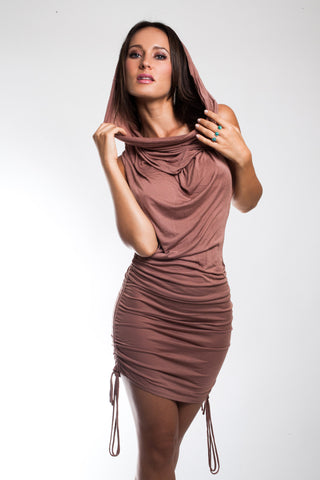 Micah Sinch Dress w/ Drapery Cowel- Dusty Rose