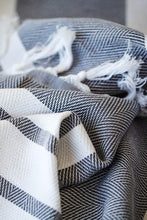 Load image into Gallery viewer, Herringbone Cotton Towel