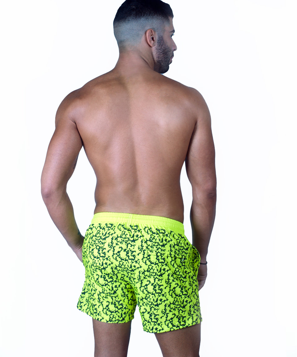 Neon Swim Short | Yellow