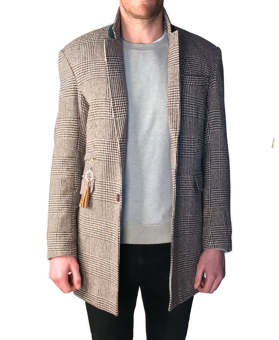 POW Check Wool Coat | Tan