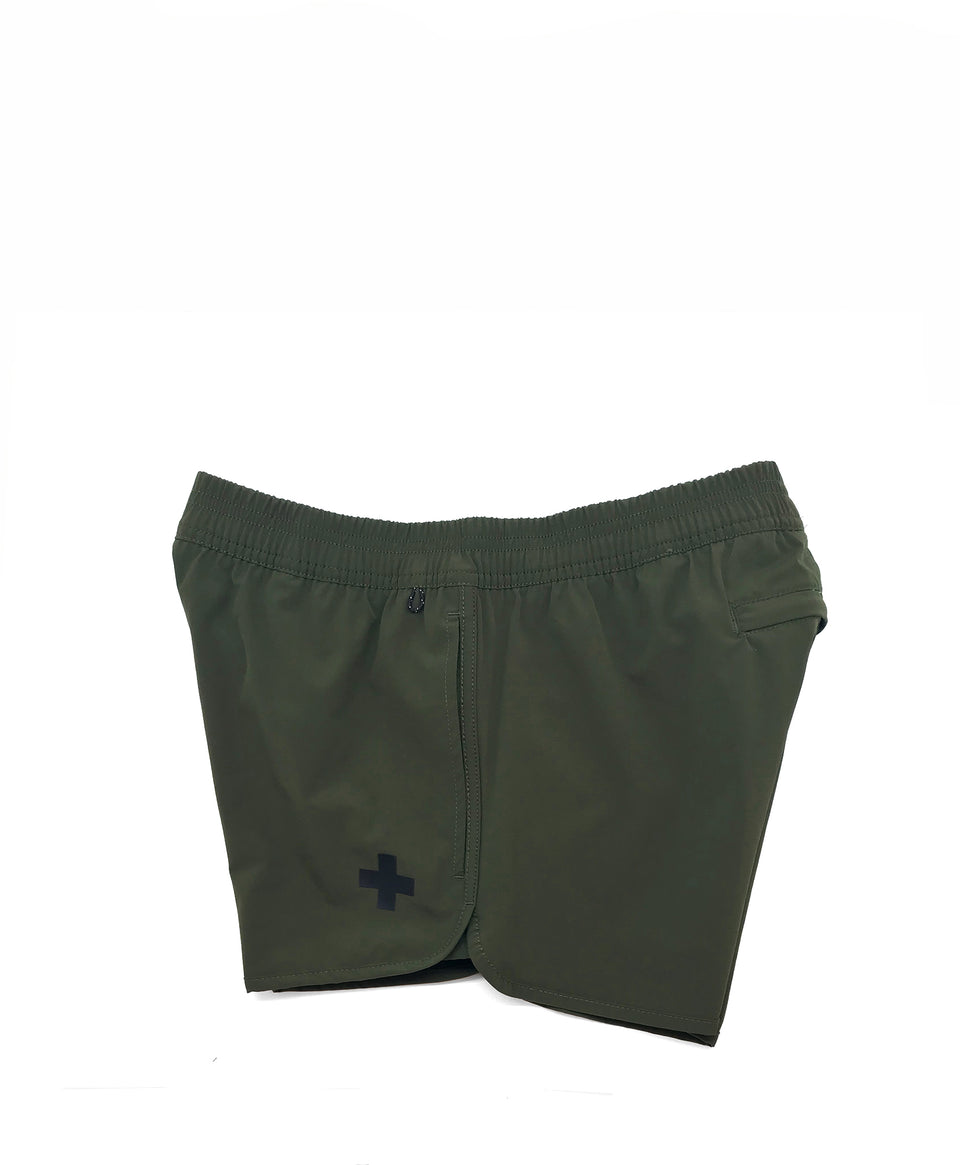 Track swim short | Khaki