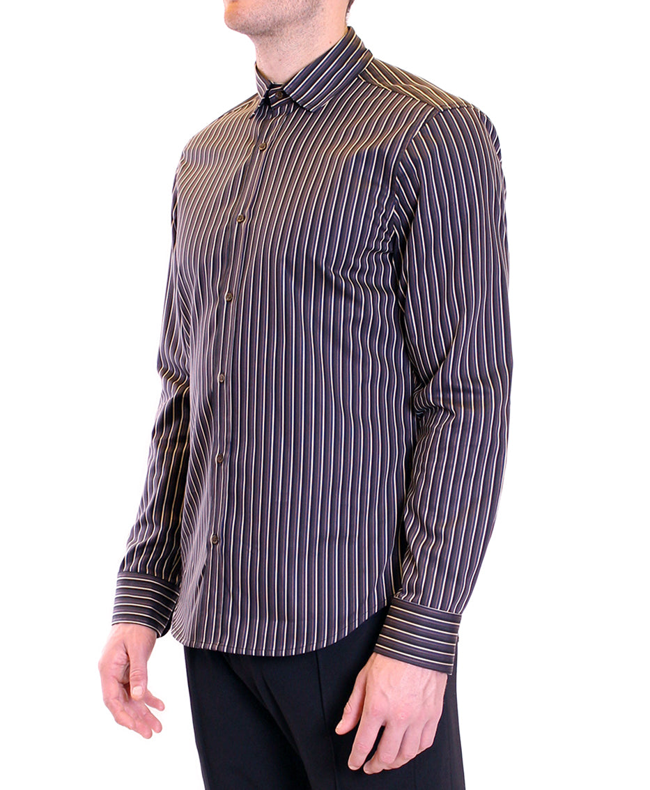 Satin stripe shirt | Multi