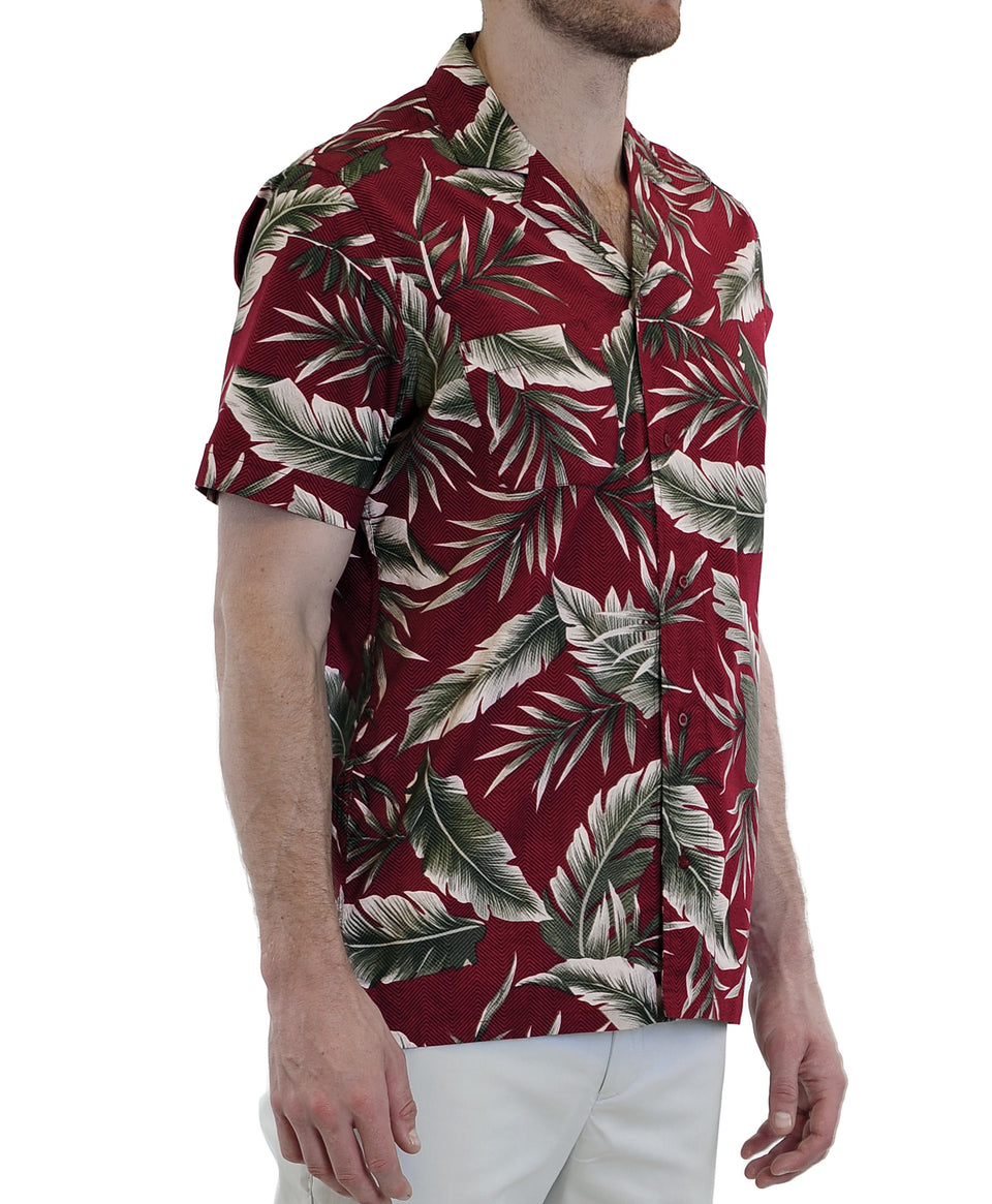 Vintage Print shirt | Palm Leaf