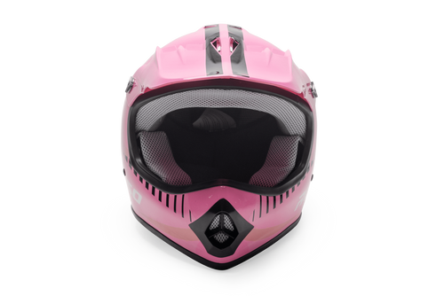Rosso Motors Off Road Motocross ATV Helmets For Kids in Pink DOT Approved