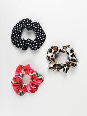 Print Hair Scrunchies pack