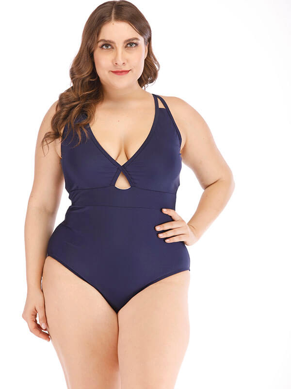 AOZSWIM Sexy Solid One Piece Women Spaghetti Straps Swimwear Swimsuit