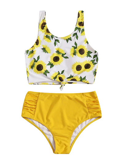 AOZSWIM Sexy Bikini Set High Waist Swimwear Bow Print Swimsuit