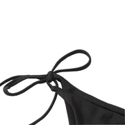 AOZSWIM Sexy Bikini Set Bandeau String Swimwear Off Shouder Solid Swimsuit