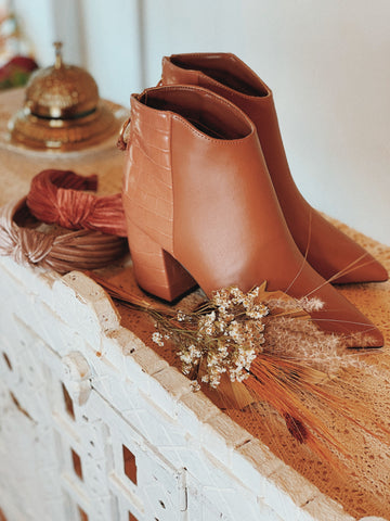 mauve muse booties