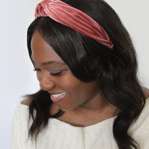 ribbed velvet headband