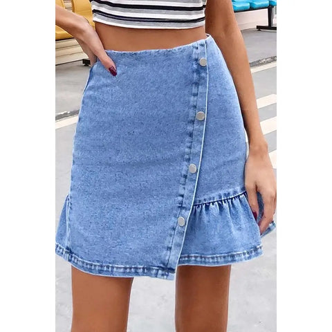 curveball denim skirt