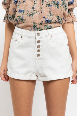dove button fly shorts