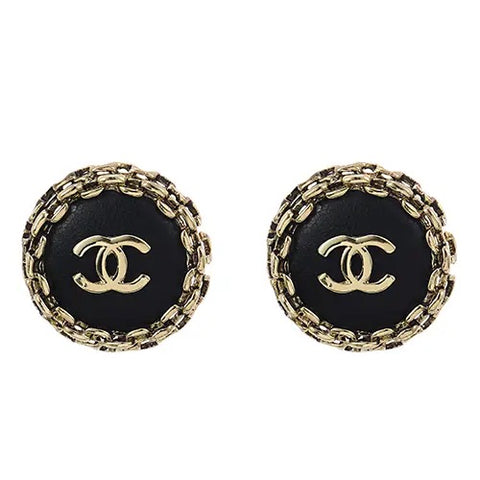 emie double c button earrings (large)