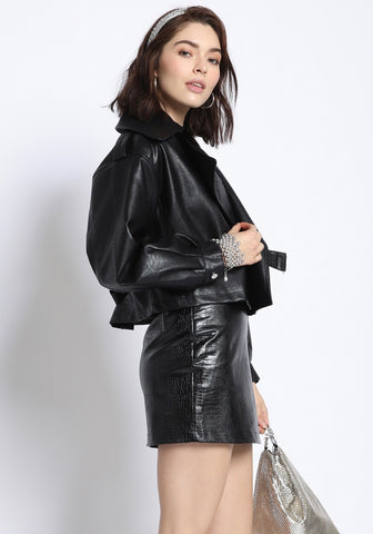 black book vegan leather jacket