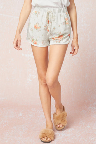 cozy rosy loungewear shorts