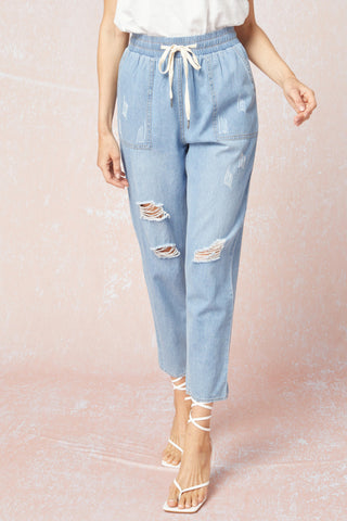off duty chambray joggers