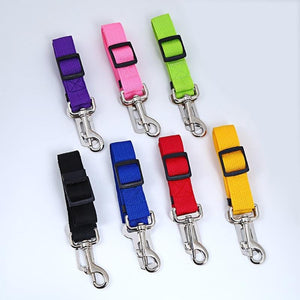 7 Color Adjustable Cat & Dog Car Safety Seat Belt Leash