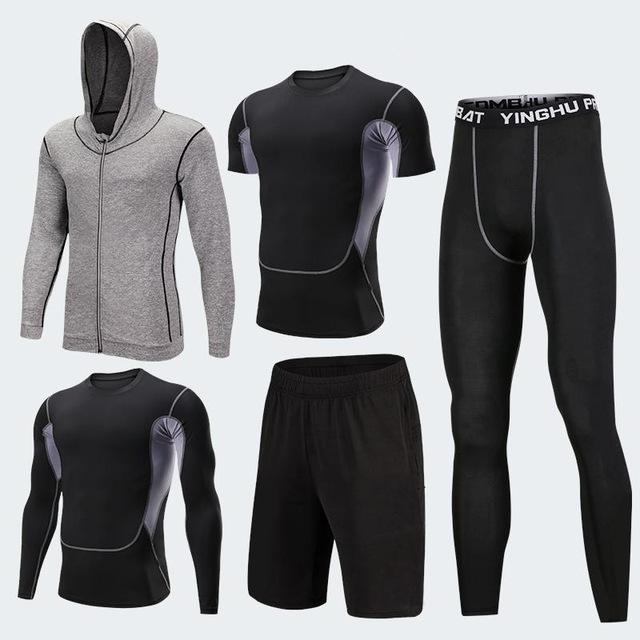 GYM Tights Sports Men's Compression Sportswear Suits