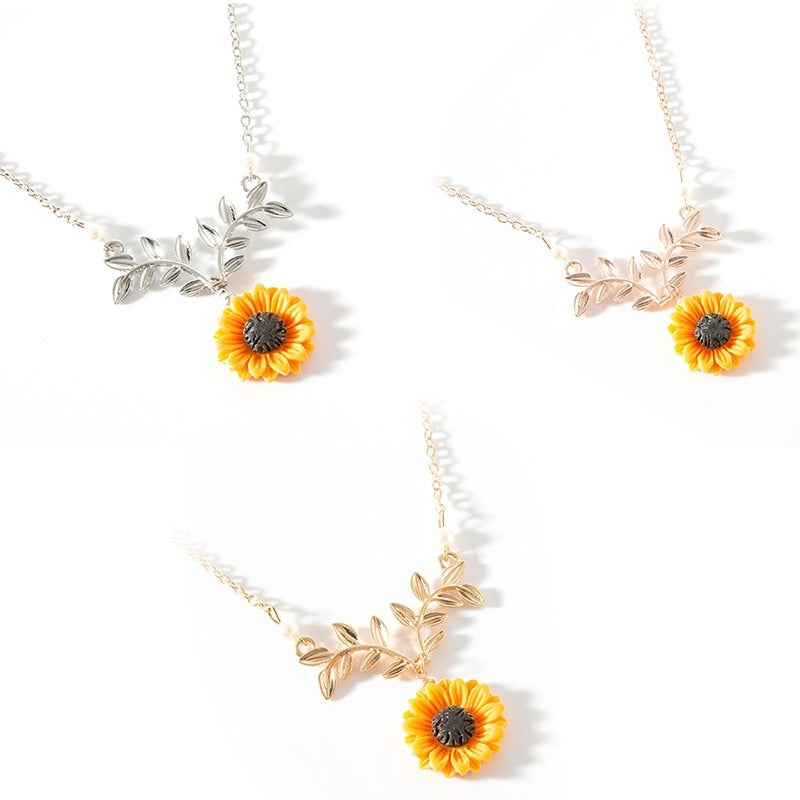 Creative Fashion Sunflower Necklace