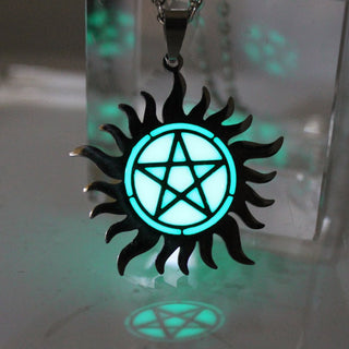 Stainless steel Supernatural Pentagram Necklace