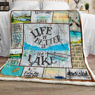 Life Is Better At The Lake Sofa Quilt