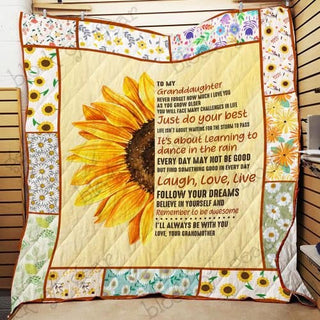 My Granddaughter I Love You Quilt