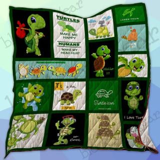 Turtles Make Me Happy Quilt