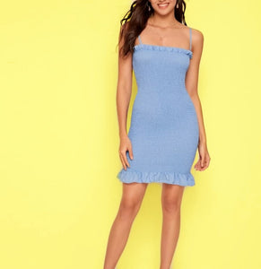 Bella Shirred Dress
