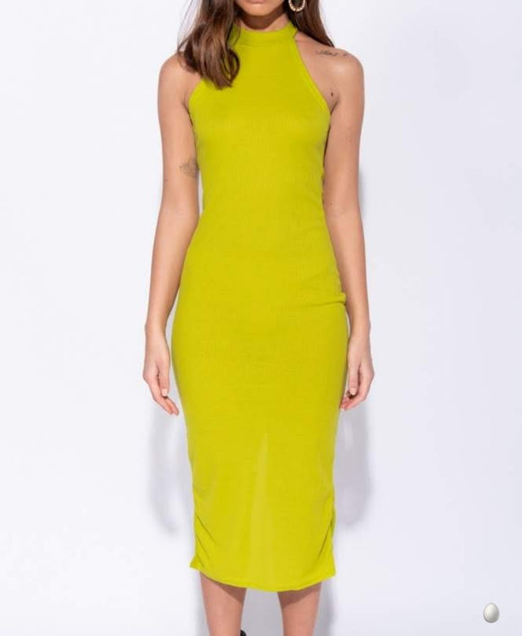 Pia High Neck Dress