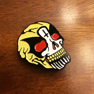 King Diamond Skull Pin