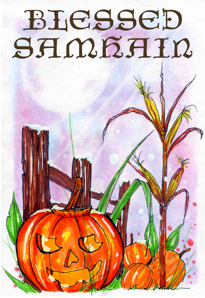 Holiday Cards: Blessed Samhain