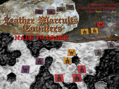 Warcults: Leather Counters (Made to Order)