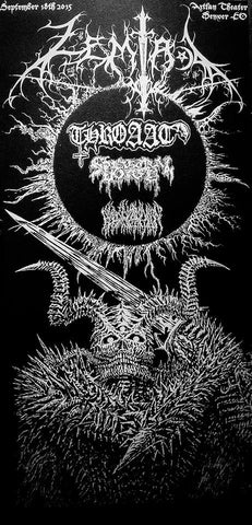 ZEMIAL/THROAAT/SPECTRAL VOICE/BLOOD INCANTATION Poster by MANIFESTER
