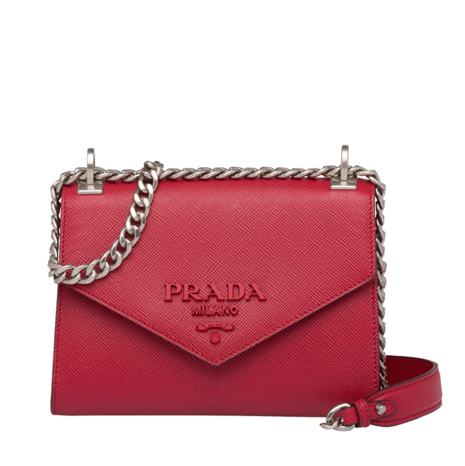 Prada Red Saffiano Monochrome Bag