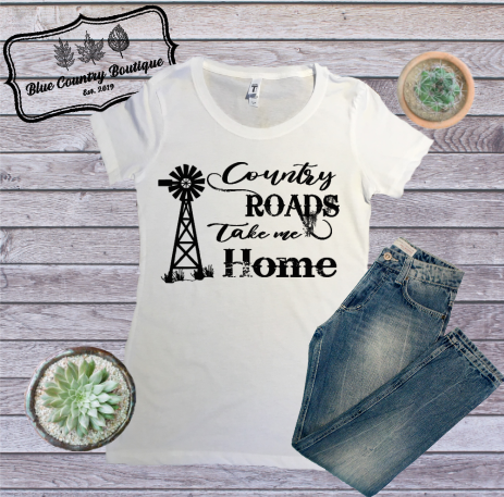 Country Roads Take Me Home-Blue Country Boutique