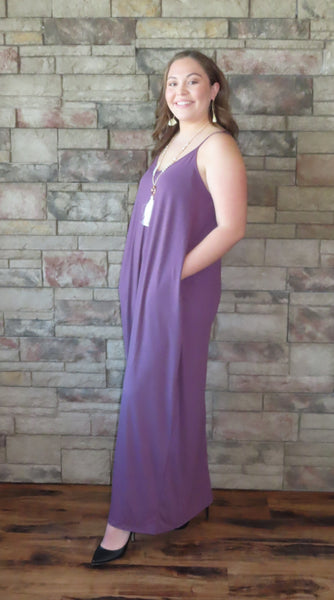 Nights On The Terrace Maxi Dress Eggplant ~ Blue Country Boutique, LLC