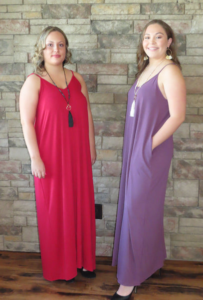 Nights On The Terrace Maxi Dress Dark Red/Eggplant ~ Blue Country Boutique, LLC